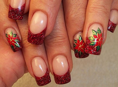 Изящный красный дизайн ногтей в Иркутске