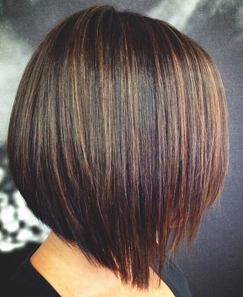 Espresso-Brown-Base-with-Caramel-Highlights-with-Bob-Hairstyles