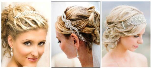 свадебные причёски на короткие волосы без фаты